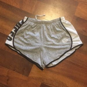 UCA cheer white and black patterned short